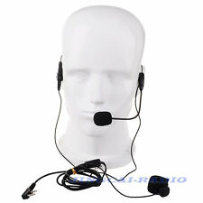 Headset Dual PTT for Kenwood Puxing Wouxun Baofeng 2-PIN Radio with boom mic