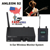 ANLEON S2 UHF Wireless In-Ear Monitor System Transmitter Receiver Kit For Stage