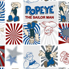 Popeye the Sailor Man 100% cotton flannel fabric by the yard