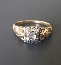 Antique Victorian Child's, Baby Ring - 1/10th (.10) Ct. Diamond, 14K-18K Gold