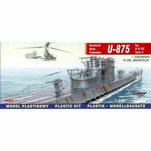 Mirage Hobby Mira40043 U-875 - Ix D2 + Fa 330 Bachstelze 1/400