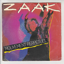 """ZAAK Vinyle 45T 7"""" MOUVEMENT PERPETUEL Remix Disco EMI 2014387 F Rèduit RARE"""