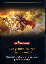 Singt le Homme Alle Stimmen Geistliche Chorwerke en 4 Jahrhunderten Mp3 DVD