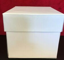 "5 Windsor White Heavy Duty Card Lidded Cake Box 6"" 150mm"