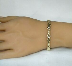 9ct Gold Ladies Bracelet (real gold) Fantastic Condition Ideal Gift