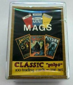 Sperry Mini Mags Trading Cards Complete Set 1-100 Classic Pulps Magazine Covers