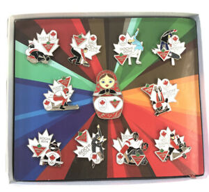 Sochi 2014 OLYMPIC GAMES pin set NOC CANADA SPONSOR Canadian Tire 11 Pins