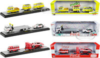 "AUTO HAULERS ""COCA-COLA & MELLO YELLO"" 3 PIECE SET 1/64 DIECAST BY M2 56000-TW05"