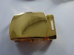 (57) US Koppelschloss, Gürtelschloss  vergoldet neuwertig Buckle Belt Trousers