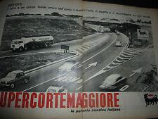 ADVERSITING PUBBLICITA'  SUPERCORTEMAGGIORE la benzina italiana -- 1962