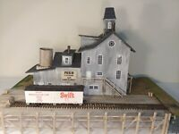"""""""Pier 19 Cannery & Fish Market """" HO scale,  scratch-built by a Craftsman,"""
