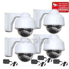 4 Security Camera w/ SONY EFFIO CCD 700TVL IR LED Outdoor Day Night Zoom Len mg1