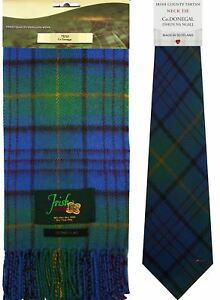 Irish County Donegal Tartan Lambswool Scarf and Wool Necktie Gift Set