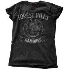 XL Women's The Ramones T-shirt - Ladies Fashion Tee Forest Hills Vintage Snow