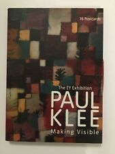 Paul Klee Making Visible EY Exhibition Book of 16 Postcards Tate Gallery VGC