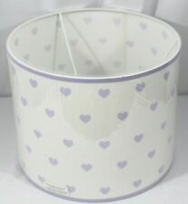 NEW Pottery Barn Kids Dabney Heart Drum Lamp Shade Lavender Purple