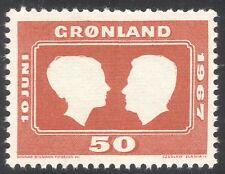 Greenland 1967 Royal Wedding/Royalty/People/Prince/Princess 1v (n43667)