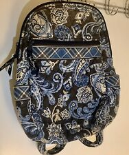 "Retired Vera Bradley Pretty 2006 Windsor Navy Vintage Backpack, FAIR , 12"" X 8"""