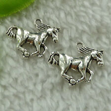 free ship 220 pcs tibet silver horse charms 21x16mm #3563