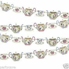 TRULY ALICE IN WONDERLAND TEA PARTY MAD HATTERS PARTY TEAPOT BUNTING GARLAND