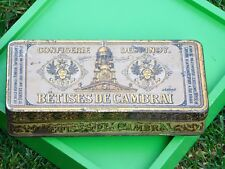 ANCIENNE BOITE METAL  BETISES DE CAMBRAI CONFISERIE DESPINOY FRENCH VINTAGE