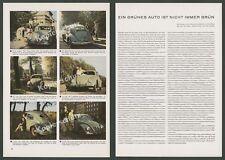Fotografici Agfacolor VOLKSWAGEN VW MAGGIOLINO AUTO VIAGGI Da Donna Biscotto MAGGIOLINO 1952