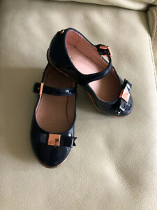 Ted Baker Girl's Navy Patent Shoes Size 7