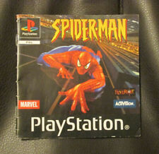 Spider-man MANUAL ONLY Sony PS1 Video Game (PAL Format) Playstation Spiderman
