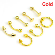 Mixed 8PCS 16G Stainless Steel Helix Piercing Jewelry Ear Eyebrow Nose Lip Rings