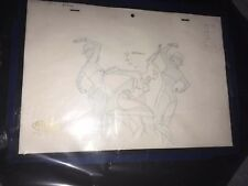 Batman Animated production drawing framed & matted From Mystery Of The Batwomen