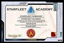 STAR TREK - STARFLEET CERTIFICATE POSTER - 24x36 SPOCK KIRK ACADEMY 241154
