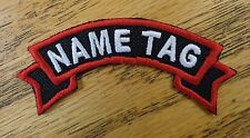 Custom Embroidered Motorcycle Ribbon Name Officer Tag Biker Patch MC Club Patch
