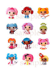 Assorted LALALOOPSY Edible Icing Toppers CUPCAKE Decoration Images Party Supply