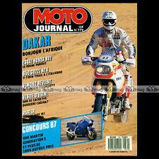 MOTO JOURNAL N°779 HONDA 750 RVF, GUZZI 650 NTX, DAYTONA, PARIS-DAKAR 1987