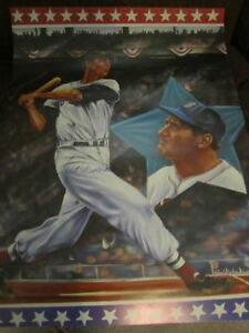 Ted Williams Signed 18x24 Litho Jsa Autograph