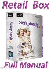 SERIF DIGITAL SCRAPBOOK ARTIST 2 FULL RETAIL MINI BOX WITH PRINTED MANUAL