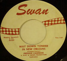 FREDDIE CANNON Way Down Yonder In New Orleans / Fractured SWAN 45-4043