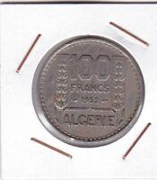 Algeria ( French Occupation ) : 100 Francs 1952 (a) VF