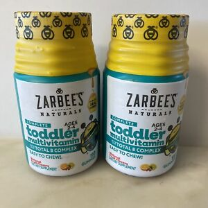 2X Zarbee's Naturals Toddler Multivitamin Gummies With B Complex 110 Ct EXP 6/21
