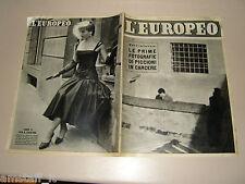 EUROPEO=1954/42=CASO WILMA MONTESI=MANNEQUIN CHRISTIAN DIOR=SILVANA PAMPANINI=