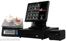 ALDELO ALL-IN-ONE POS FROZEN YOGURT RESTAURANT COMPLETE SYSTEM 1 STATION NEW