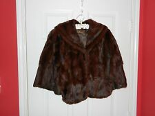 VINTAGE NATURAL MINK FUR STOLE BY GARLAND'S FUR COMPANY OF ST. LOUIS