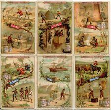 Chromo Liebig Sang. 350 TED Materiali della Natura II ANNO 1892