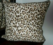 "Stunning RALPH LAUREN Leopard Animal print 22""x22"" Throw Pillow with down insert"