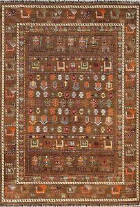 Vegetable Dye Hand-knotted Tribal Super Kazak Geometric Oriental Area Rug 6x8 ft