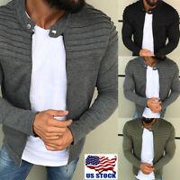 US Men's Winter Slim Casual Warm Hooded Sweatshirt Coat Jacket Outwear Sweater