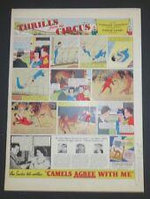Original 1938 Print Ad CAMELS Agree with Me Circus Thrills Original Art
