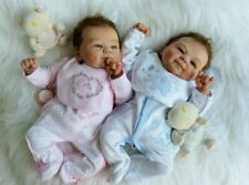 """Reborn Baby Girl and Boy dolls  ✿✿Twins ✿✿ 16"""" with rooted hair"""