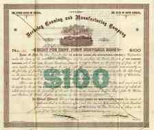 1891 Berkeley Canning & Mfg Bond Certificate with Fort Sumter Vignette