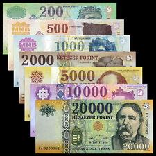 Hungria Hungary Set 7 PCS, 200-1000 2000 5000 10000 20000 Forint, 2003-2016, UNC